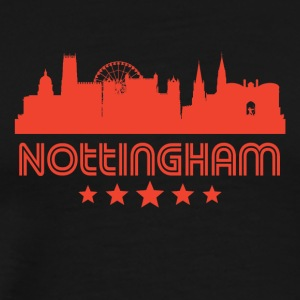 Retro Nottingham Skyline - Men's Premium T-Shirt