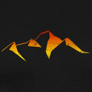 abstract mountain sunset logo - Men's Premium T-Shirt
