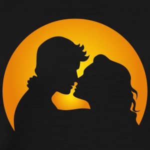 A Couple In Love In Front Of A Sunset - Men's Premium T-Shirt