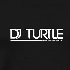 dj turtle white logo - Men's Premium T-Shirt