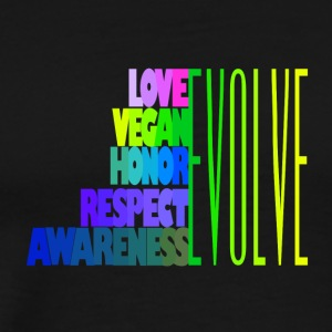 LOVE VEGAN HONOR RESPECT AWARENESS - Men's Premium T-Shirt