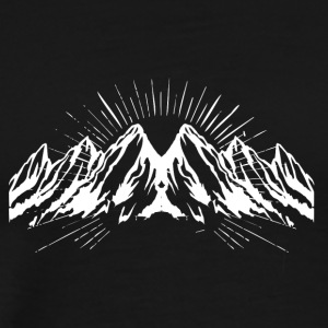 Big white snow mountain - Men's Premium T-Shirt