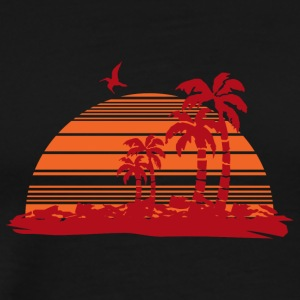 Sundown and Palms - Men's Premium T-Shirt