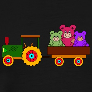toy tractor with trailer and bears - Men's Premium T-Shirt