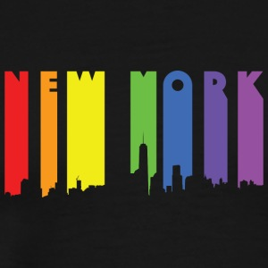 NY Paint drip effect design rainbow - Men's Premium T-Shirt