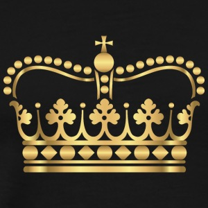 king-gold-crovn-VIP-lable-rap - Men's Premium T-Shirt