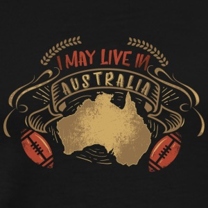 Australia ball american football inscription art - Men's Premium T-Shirt