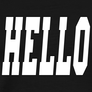 hello - Men's Premium T-Shirt