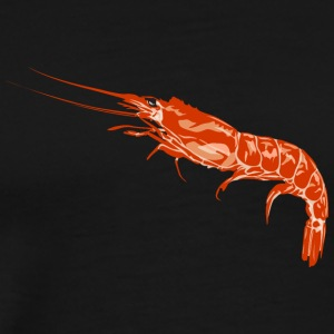 fresh shrimp seafood plankton wildlife emblem food - Men's Premium T-Shirt