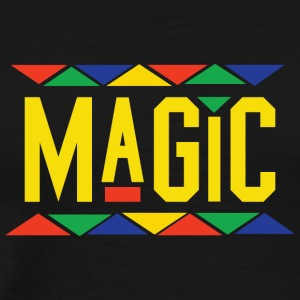 Magic - Tribal Design (Yellow Letters) - Men's Premium T-Shirt