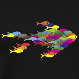 Fish Swarm - Men's Premium T-Shirt