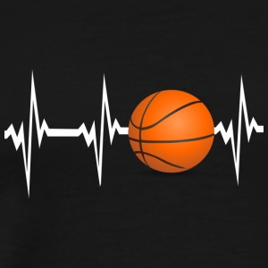 Heartbeat Play Basketball Birthday Gift - Men's Premium T-Shirt