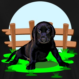 Cute Labrador dog puppy - Men's Premium T-Shirt