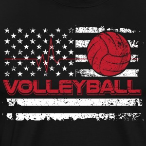 Volleyball/American Flag/Volley Ball/Player/Sports - Men's Premium T-Shirt