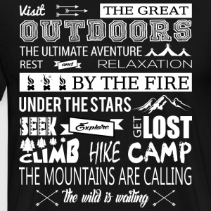 The Great Outdoors The Mountains Are Calling - Men's Premium T-Shirt