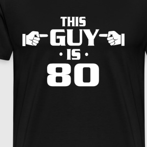 80th birthday shirts - Vintage 1937 birthday shirt - Men's Premium T-Shirt