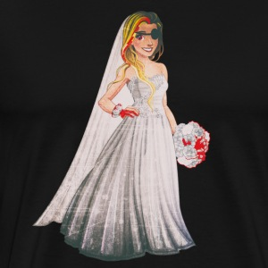 Evil Bride in Funny Horror Wedding - Men's Premium T-Shirt