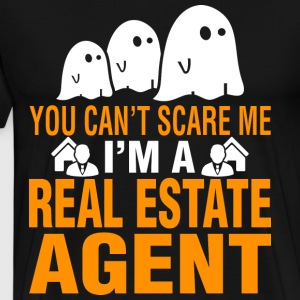You Cant Scare Me Im Real Estate Broker Halloween - Men's Premium T-Shirt