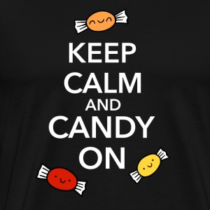 Halloween Candy Keep Calm Fun Shirt - Men's Premium T-Shirt