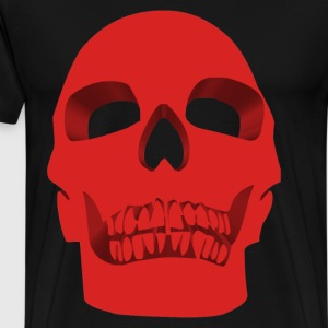 Skull Face – Red - Men's Premium T-Shirt