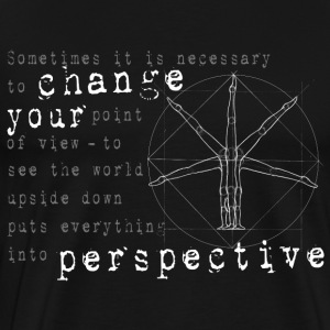 change your perspective point of view - Men's Premium T-Shirt