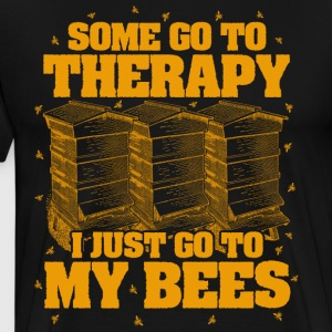 Beekeeping is better than therapy - Men's Premium T-Shirt