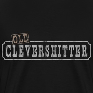 old clever shitter german translation smart ass - Men's Premium T-Shirt