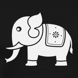 Cute Indian Elephant - Men's Premium T-Shirt