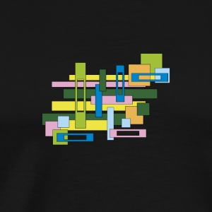 abstract rectangles - Men's Premium T-Shirt