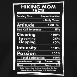 Hiking Mom Facts Daily Values May Be Vary - Men's Premium T-Shirt