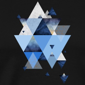 Geometric Triangles in Indigo Blue - Men's Premium T-Shirt