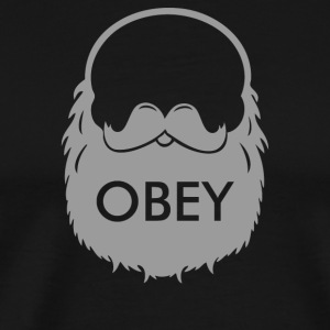 Obey The Beard - Men's Premium T-Shirt