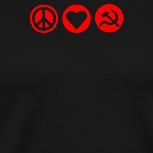 Peace Love CCCP Russia Russland - Men's Premium T-Shirt
