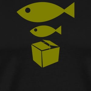 Big Fish Little Fish Cardboard Box - Men's Premium T-Shirt