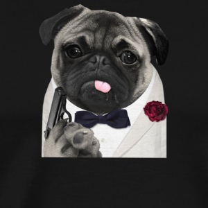 Secret Agent Pug - Men's Premium T-Shirt
