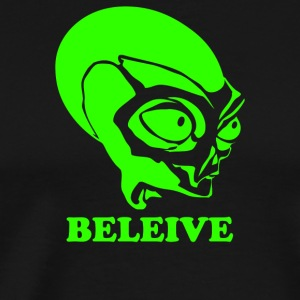 Alien Believe X Files - Men's Premium T-Shirt