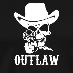 Outlaw Cow Boy Motor Bike - Men's Premium T-Shirt