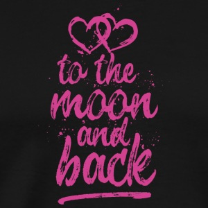Love you To the moon and back - pink - Men's Premium T-Shirt