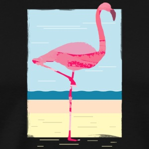 Scenic flamingo painted summer art - Men's Premium T-Shirt
