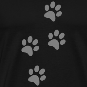 4 paw prints - Men's Premium T-Shirt