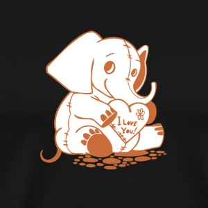 Valentine Elephant I Love You - Men's Premium T-Shirt