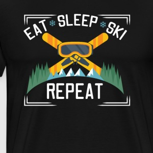 Eat Sleep Ski Repeat - Men's Premium T-Shirt