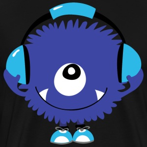 Cute Sound Monster with Headphones - Men's Premium T-Shirt