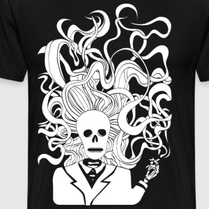 smoking skeleton white - Men's Premium T-Shirt