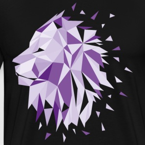 Lion Design Low Poly Geometric lion design - Men's Premium T-Shirt