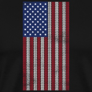Vintage US Flag Made of Mountainbike Tracks  MTB - Men's Premium T-Shirt