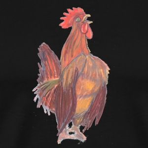 Drawn by hand rooster wake-up call - Men's Premium T-Shirt