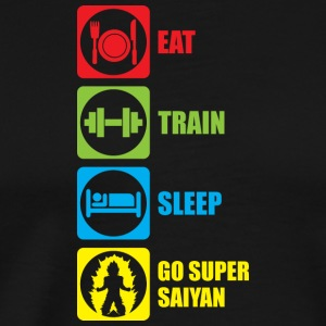 Eat Train Sleep Go Super Saiyan - Men's Premium T-Shirt