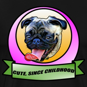 Cute since childhood Pug the dog - Men's Premium T-Shirt