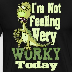 Funny Saying T Rex Dinosaur Zombie - Men's Premium T-Shirt